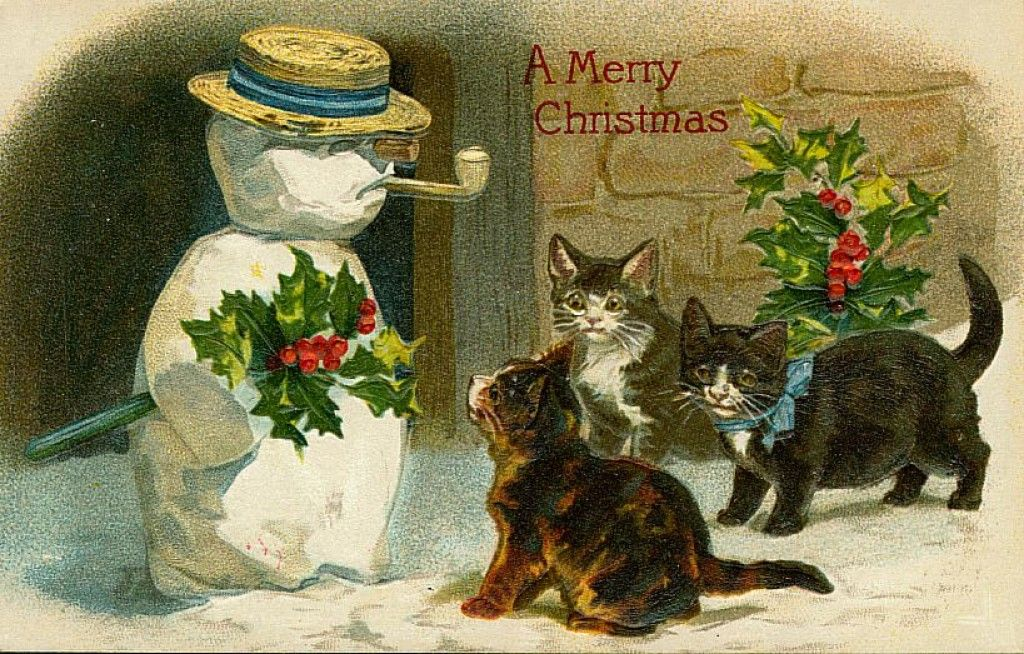 Free Vintage Animal Christmas Cards Christmas cards
