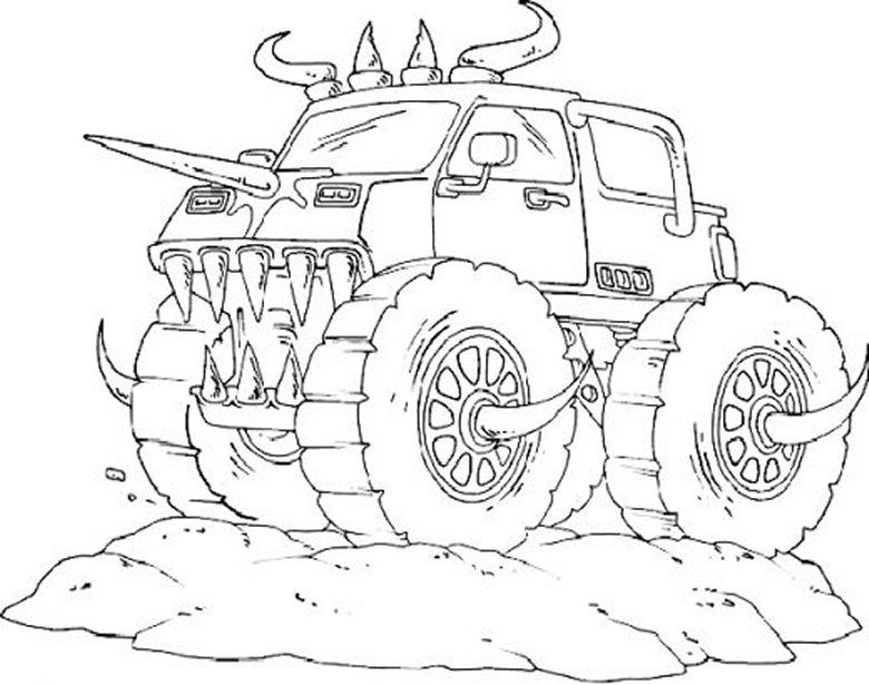 Monster Truck Coloring Pages For Boys Coloring Pages For
