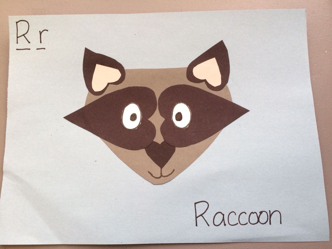 R Is For Raccoon Letter R Preschool Crafts