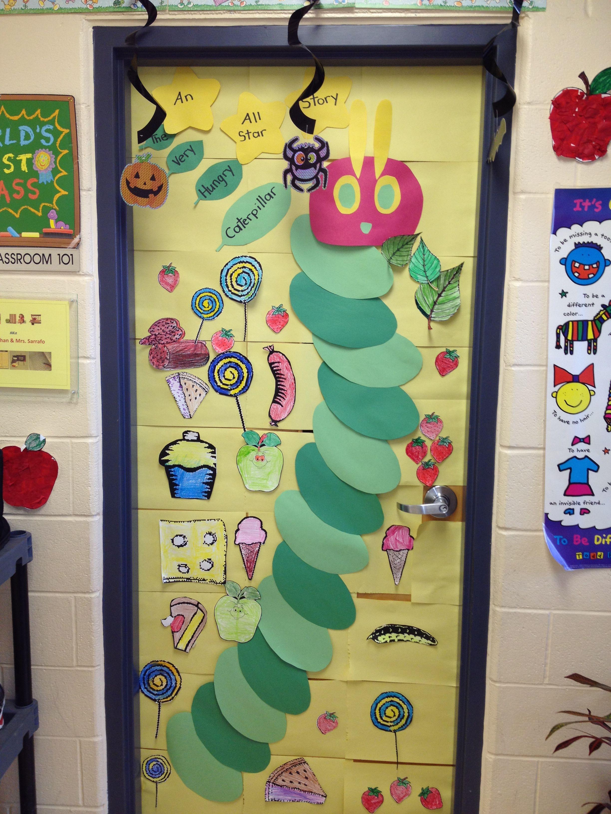 The Very Hungry Caterpillar Classroom Door D