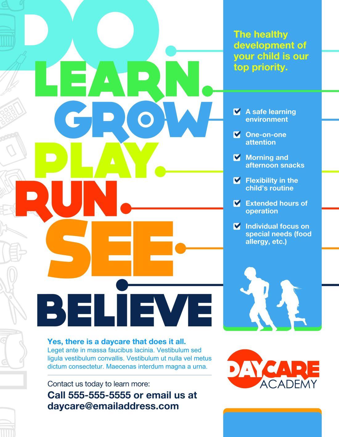 Marketing childcare poster marketing communications