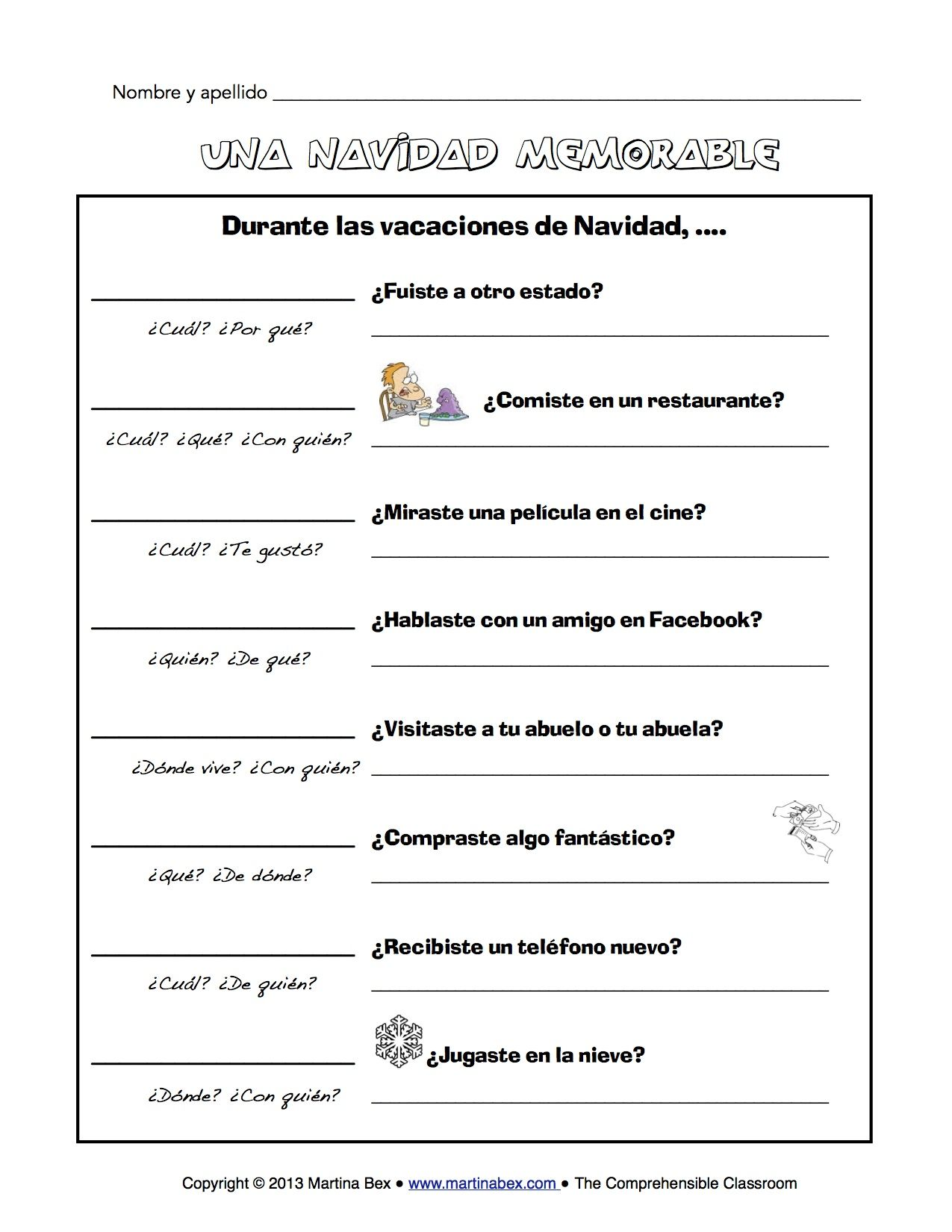 Christmas Vacation Communicative Activity In Spanish For
