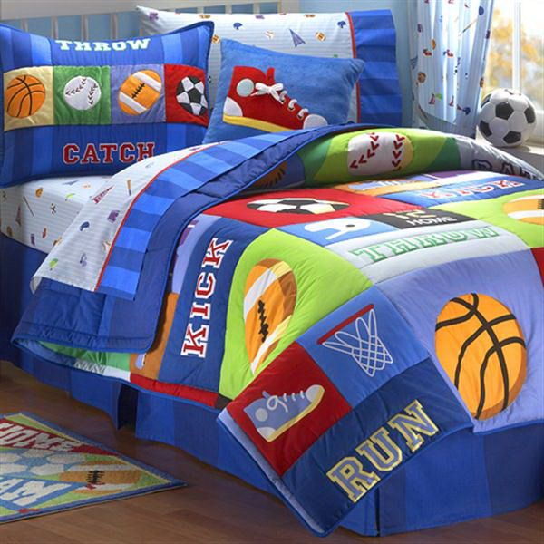 sports quilts for boys | best home kids bedroom with sport bedding