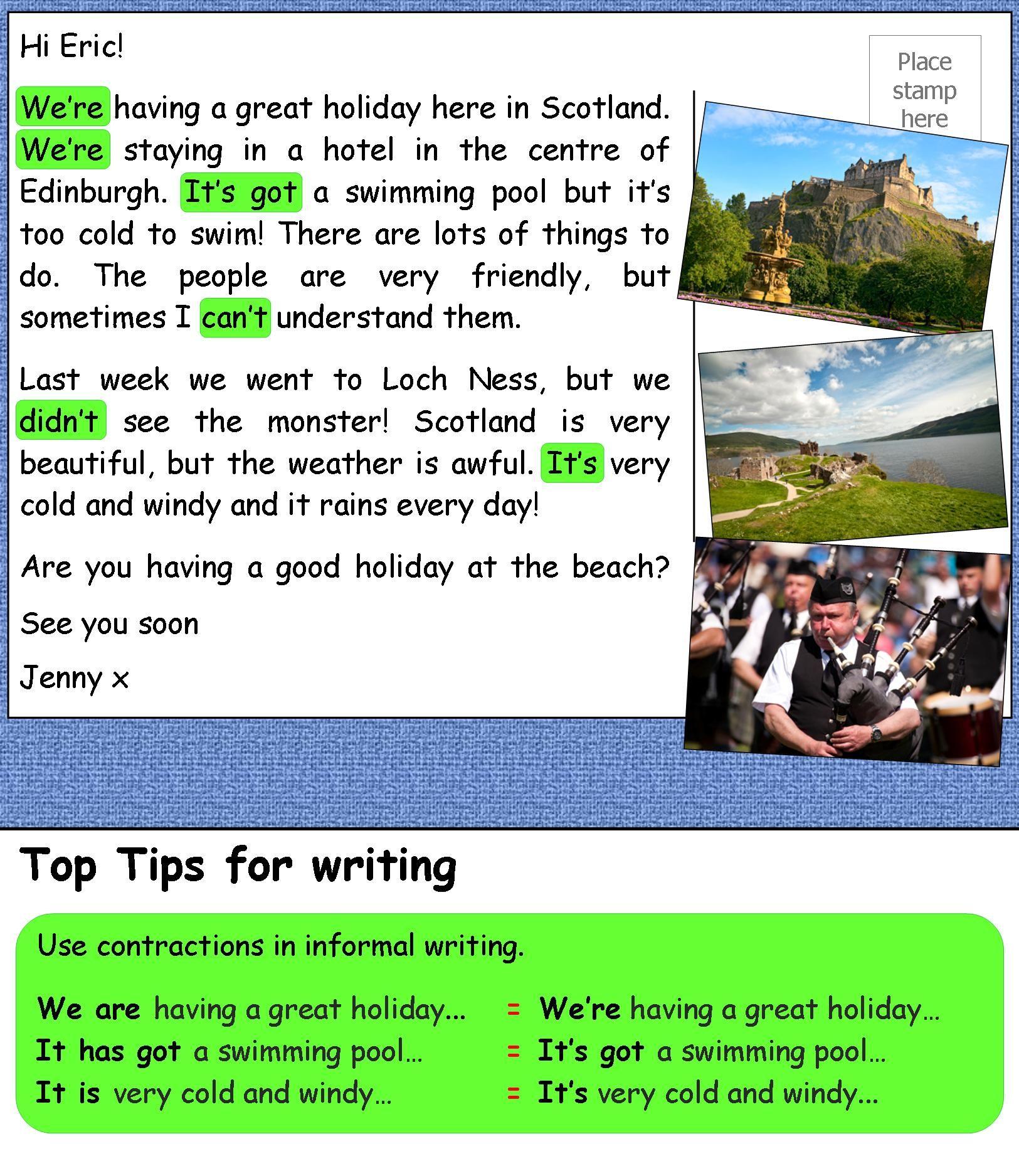 A postcard from Scotland LearnEnglishTeens A2