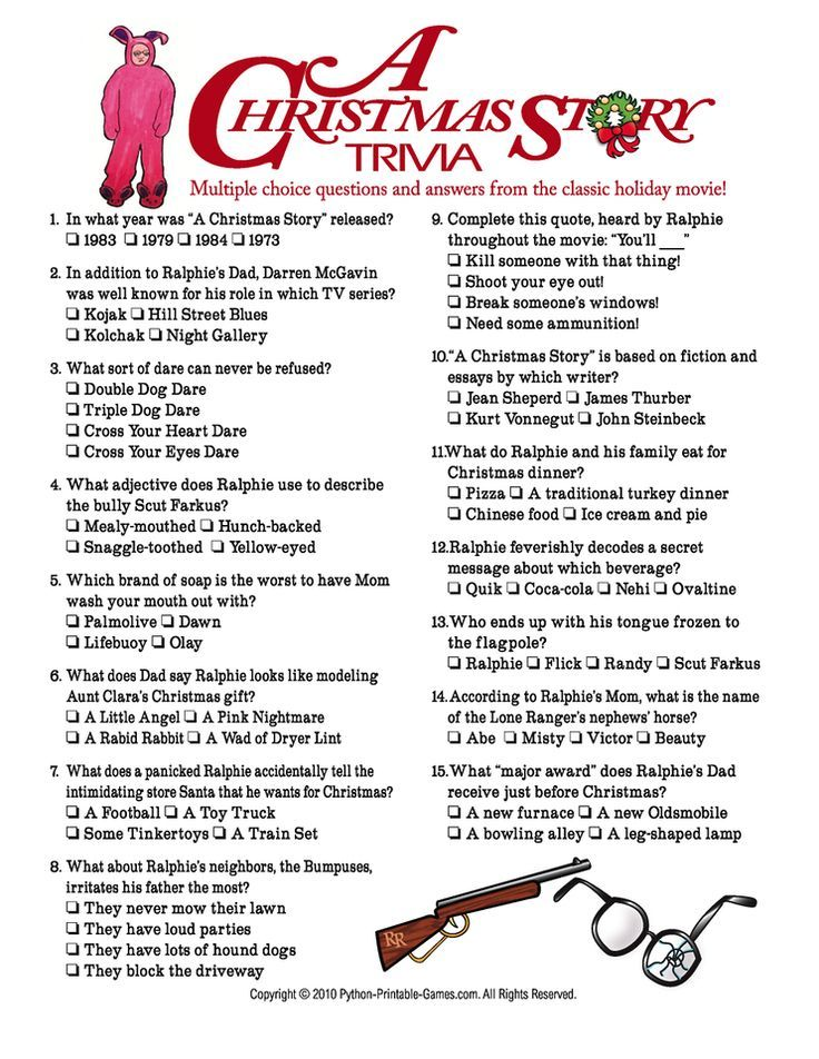 A Christmas Story Trivia. Love this movie! Watch it again