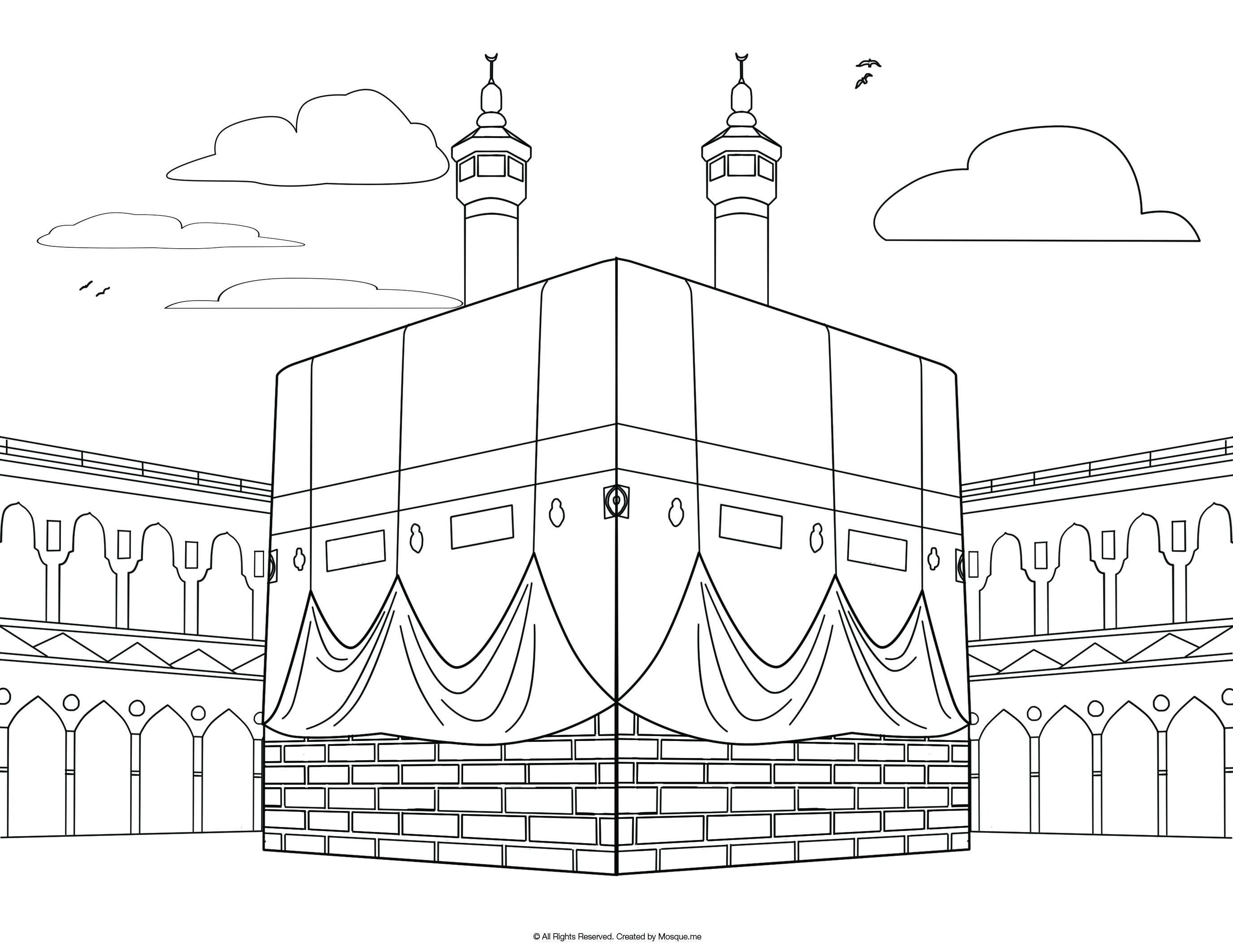 Al Isra Wal Miraj Coloring Page