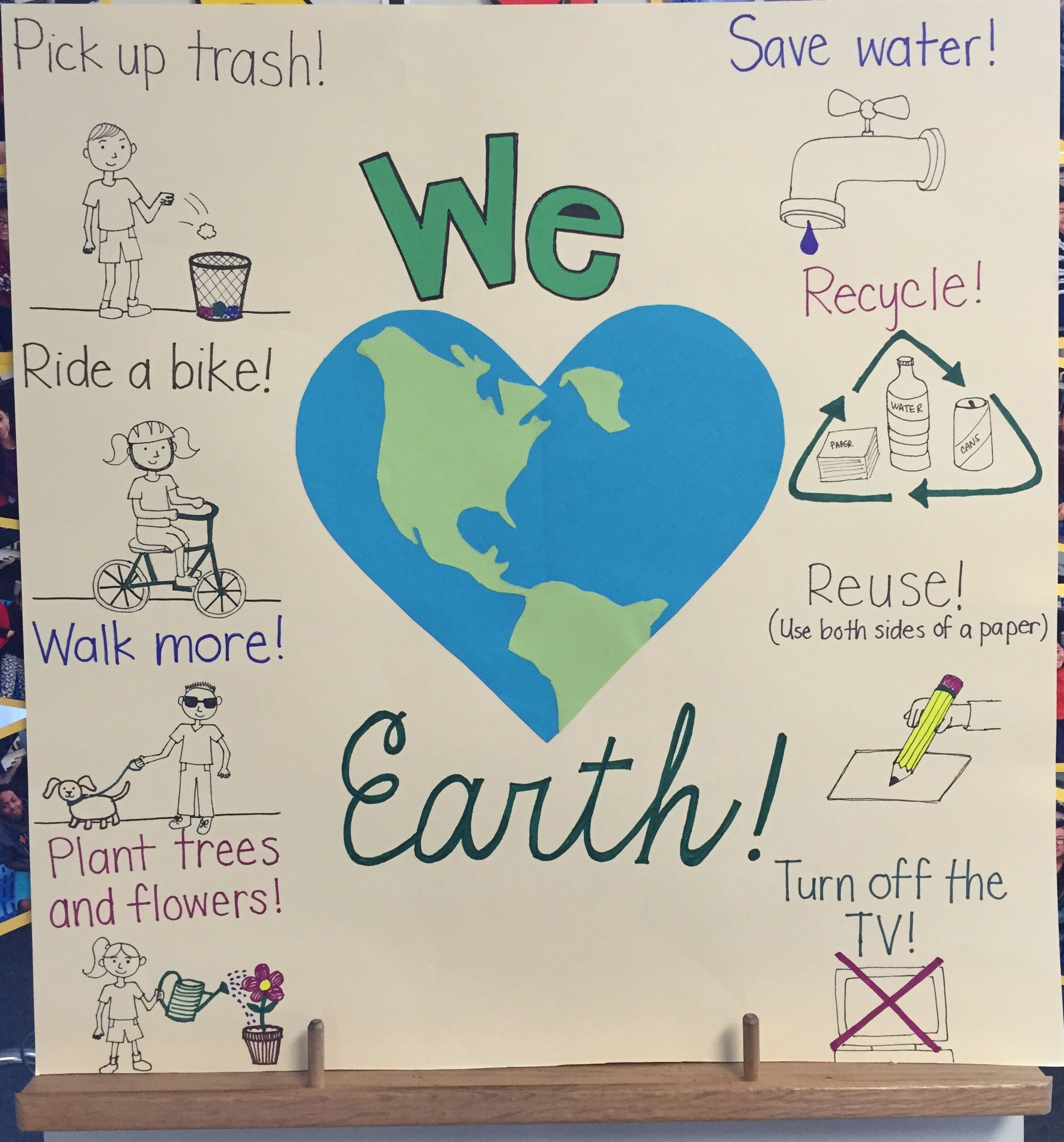 Earthday Poster Thirdgrade Earth Day Poster Created As A Visual For Writing Activity