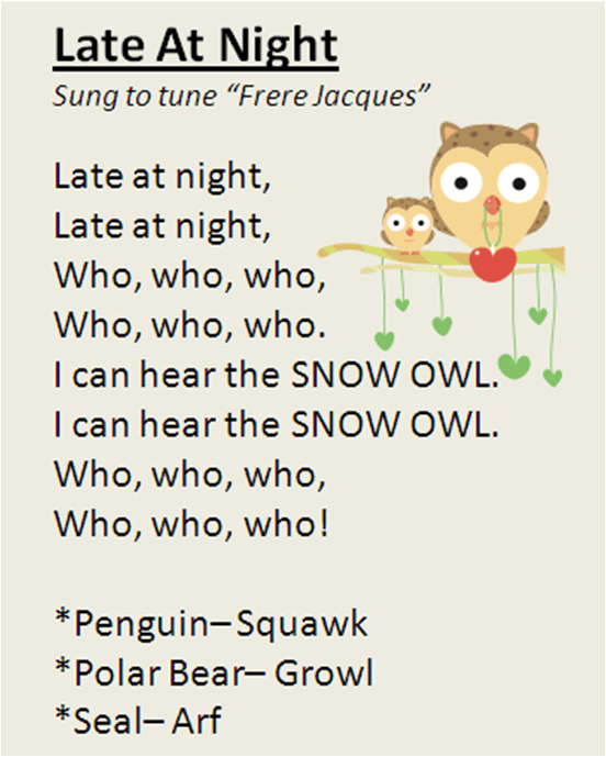 """Late At Night"" song, featuring polar animals. My"