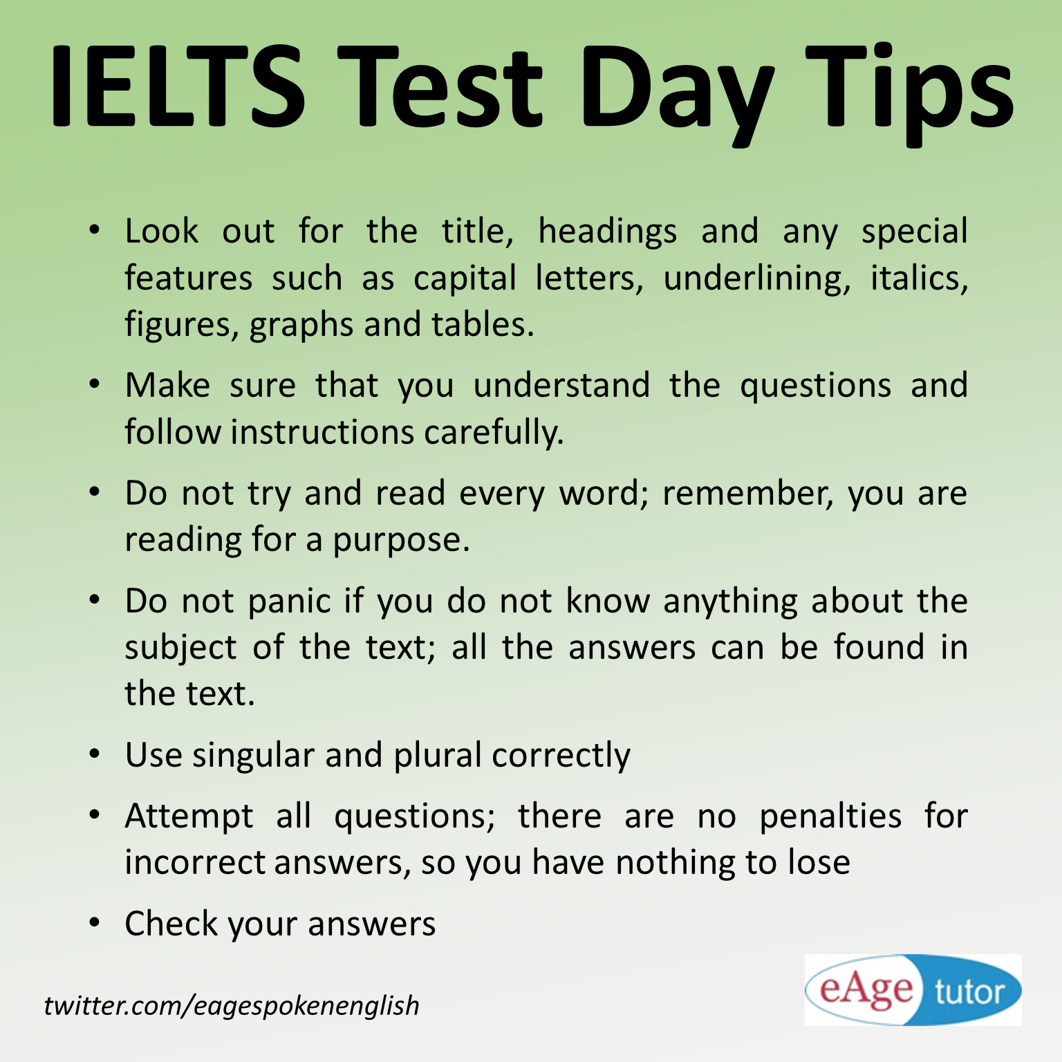 Ielts Reading Tips For Test Day Keep Calm And Do Your Best