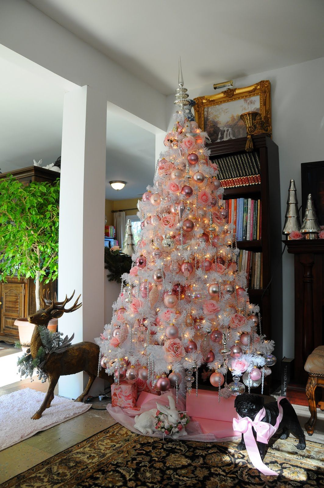 Sweet Designs White Christmas tree with pink, gold and