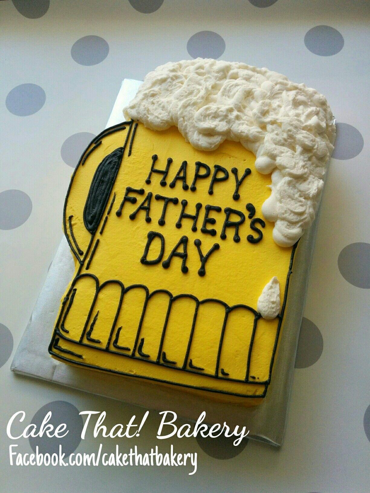 Father S Day Beer Mug Sheet Cake Creative Cakes