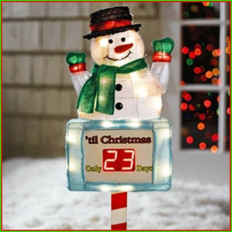 Christmas countdown yard decoration for 36 countdown to christmas snowman yard decoration