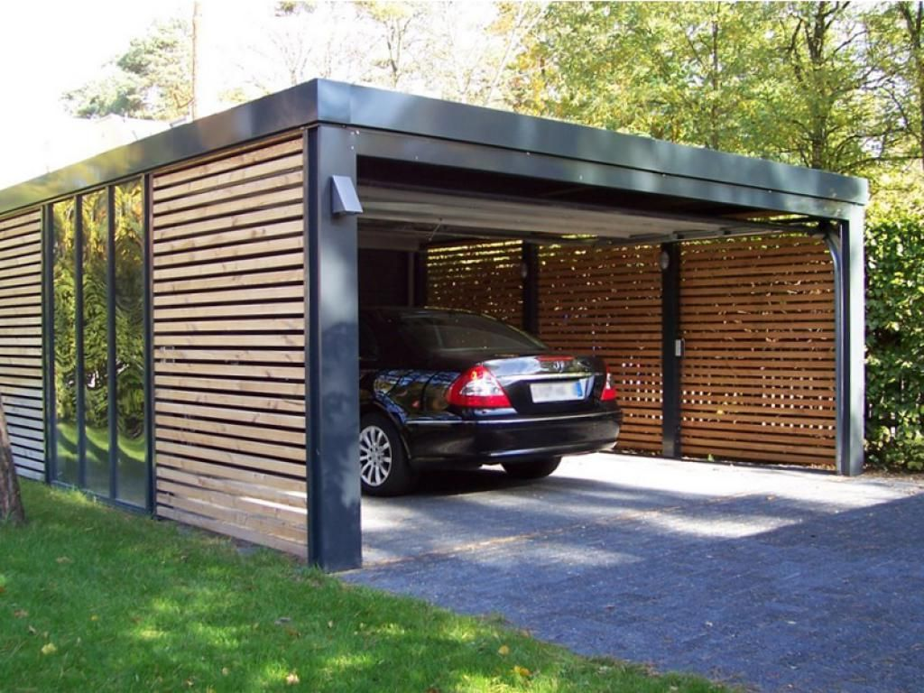 Home design, Black Minimalist Design Ideas Carport With