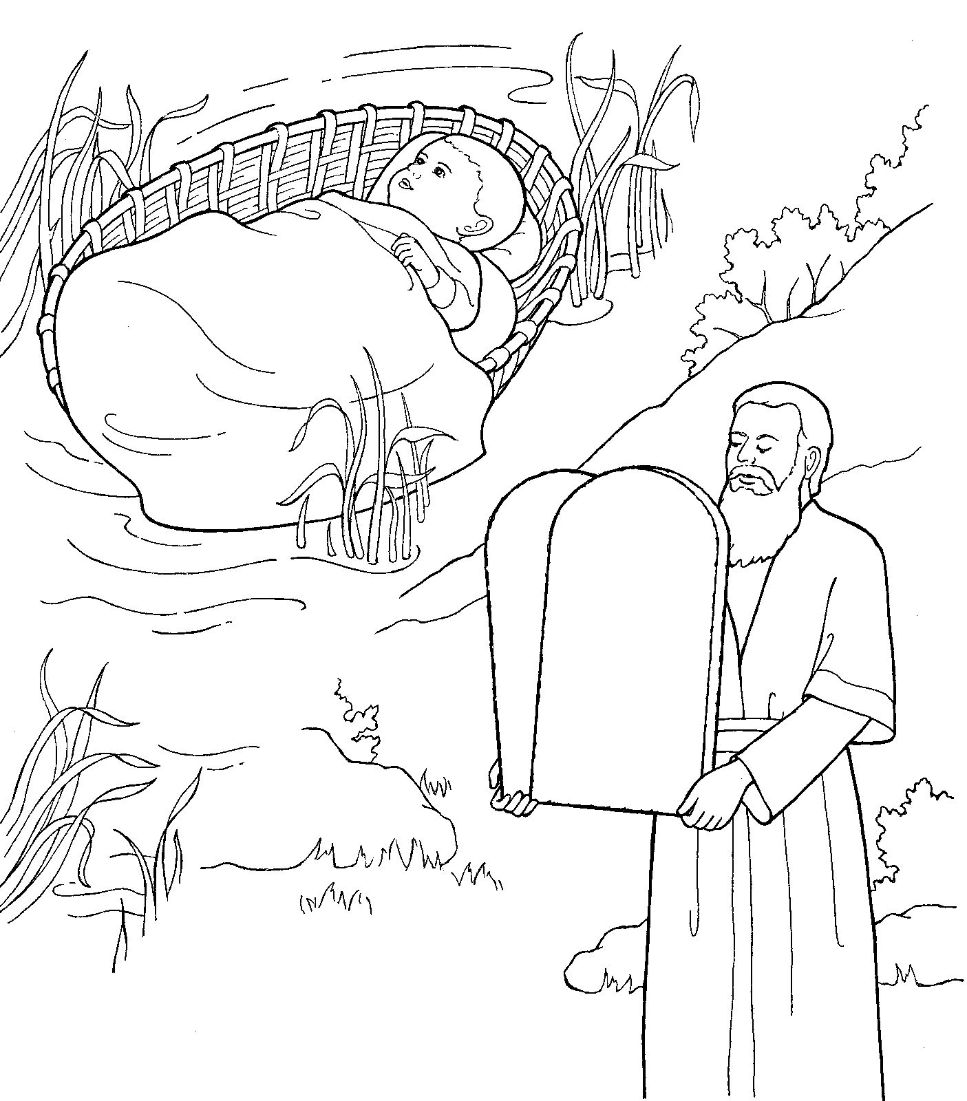 Baby Moses And Grownup Moses With The 10 Commandments Lds Media Library Images