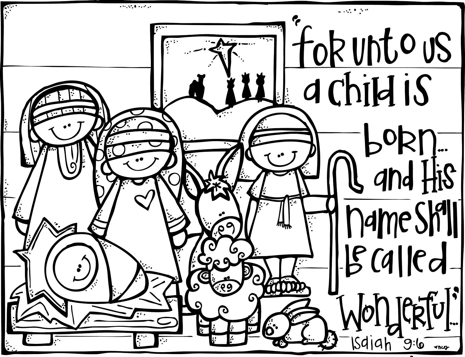 Nativity Printable Eat To Color Or Even Frame Or Turn