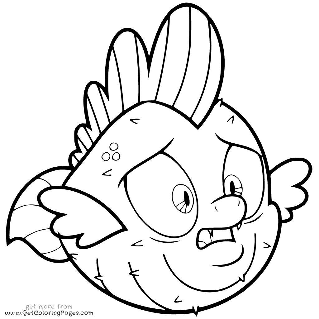 My Little Pony The Movie Coloring Page Spike The Pufferfish For