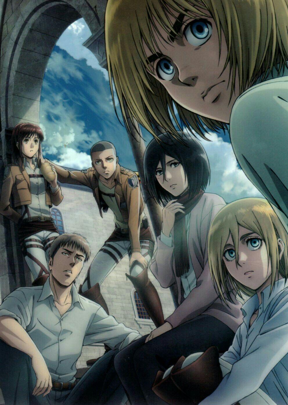 Armin Mikasa JeanHistoriaSashaConnie Attack in