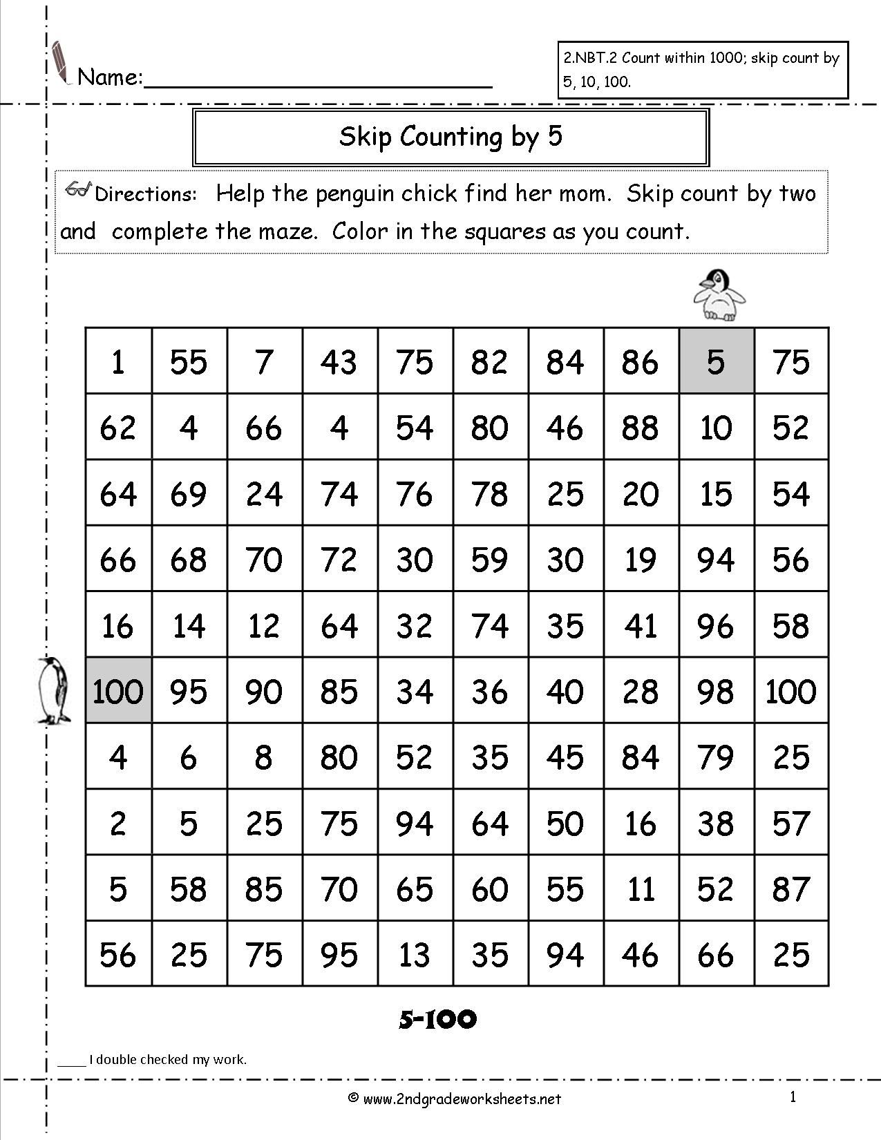 Skip Counting By 2 And 5 Worksheets