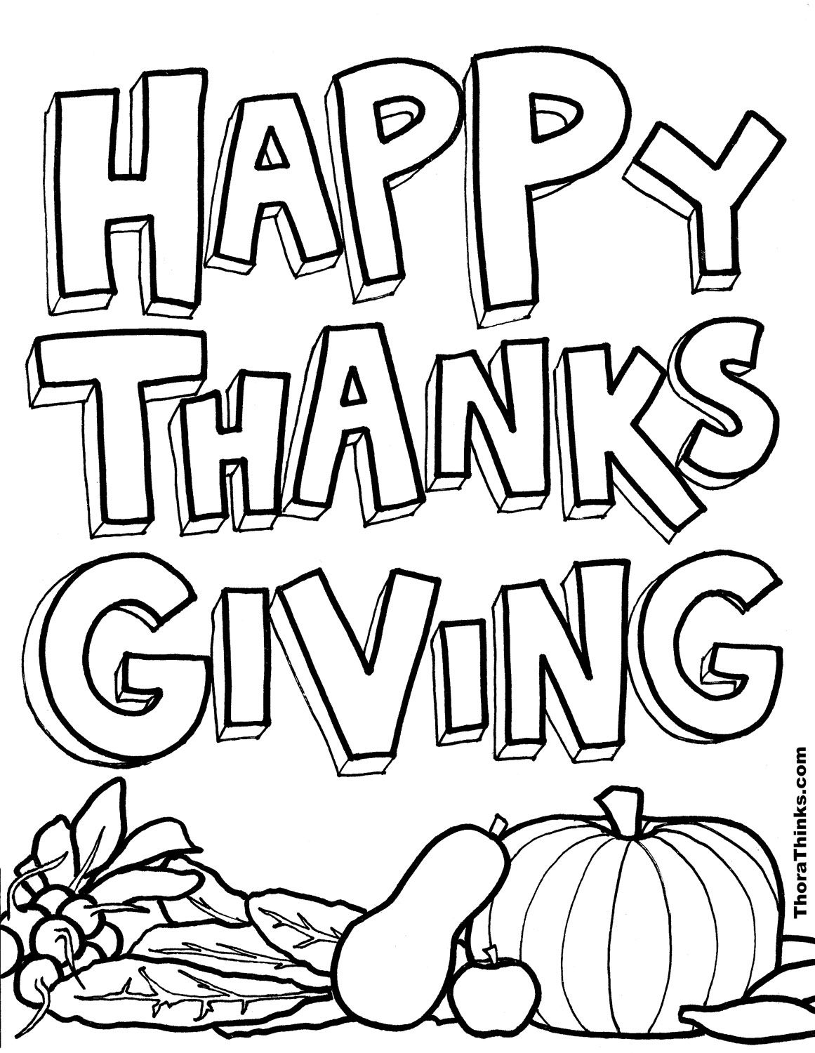 Thanksgiving Coloring Pages For School Kids