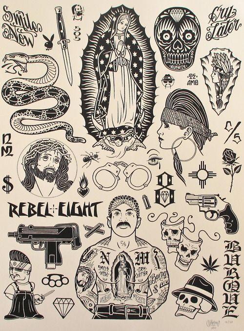 Tattoos on Pinterest Chicano Tattoos, Old School Tattoos