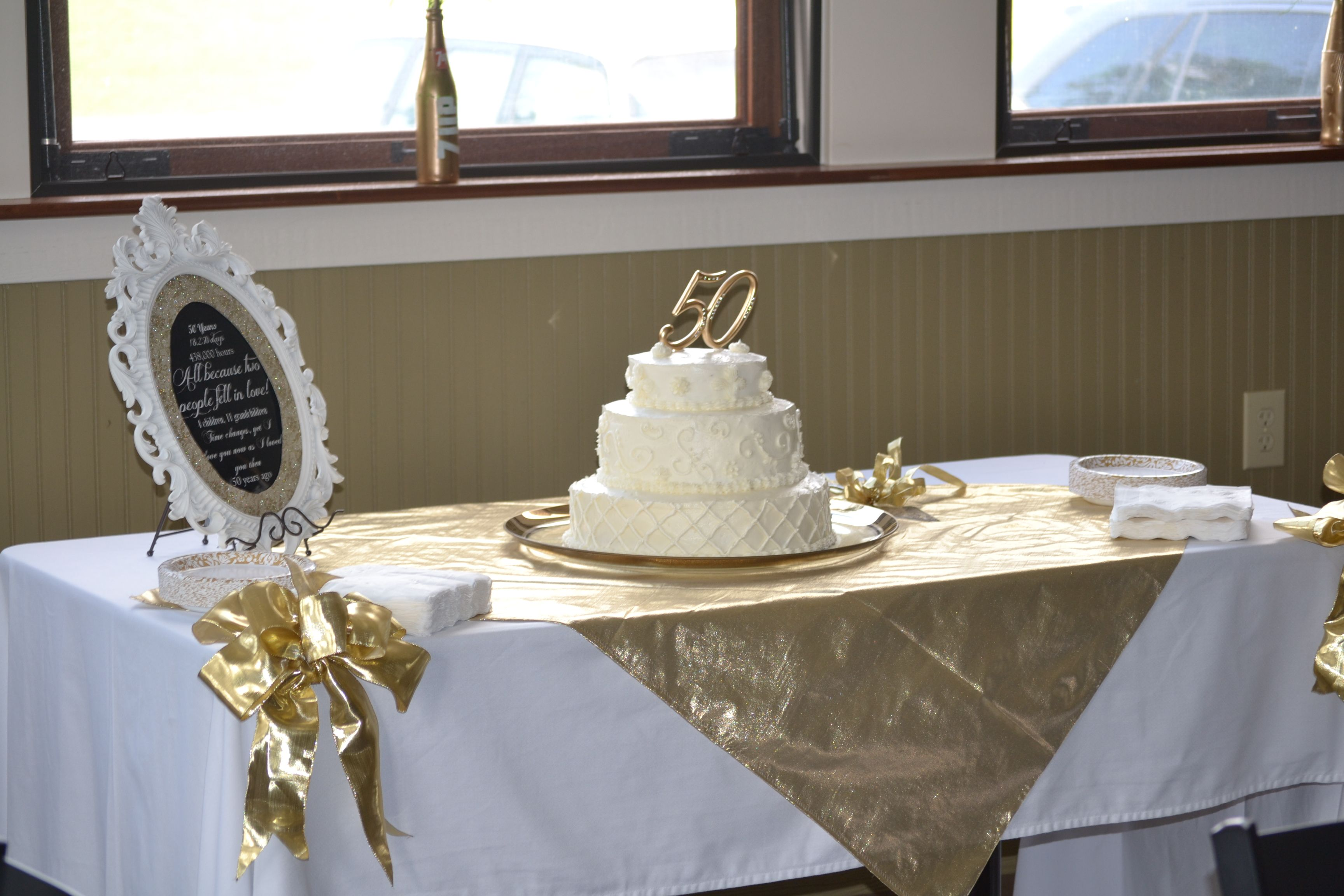 Cake And Decorating Ideas For 50th Anniversary Party