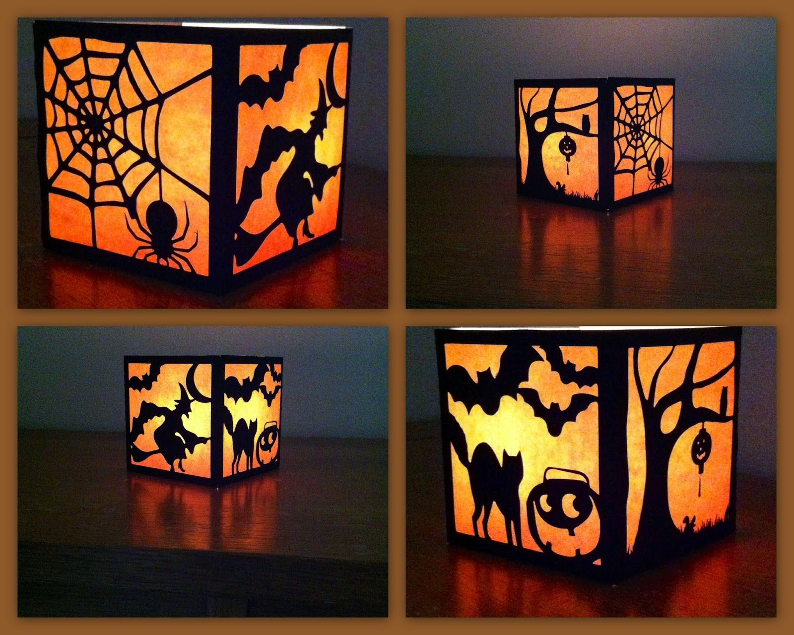 The Lady Wolf Four Sided Halloween Lantern SVG SVG
