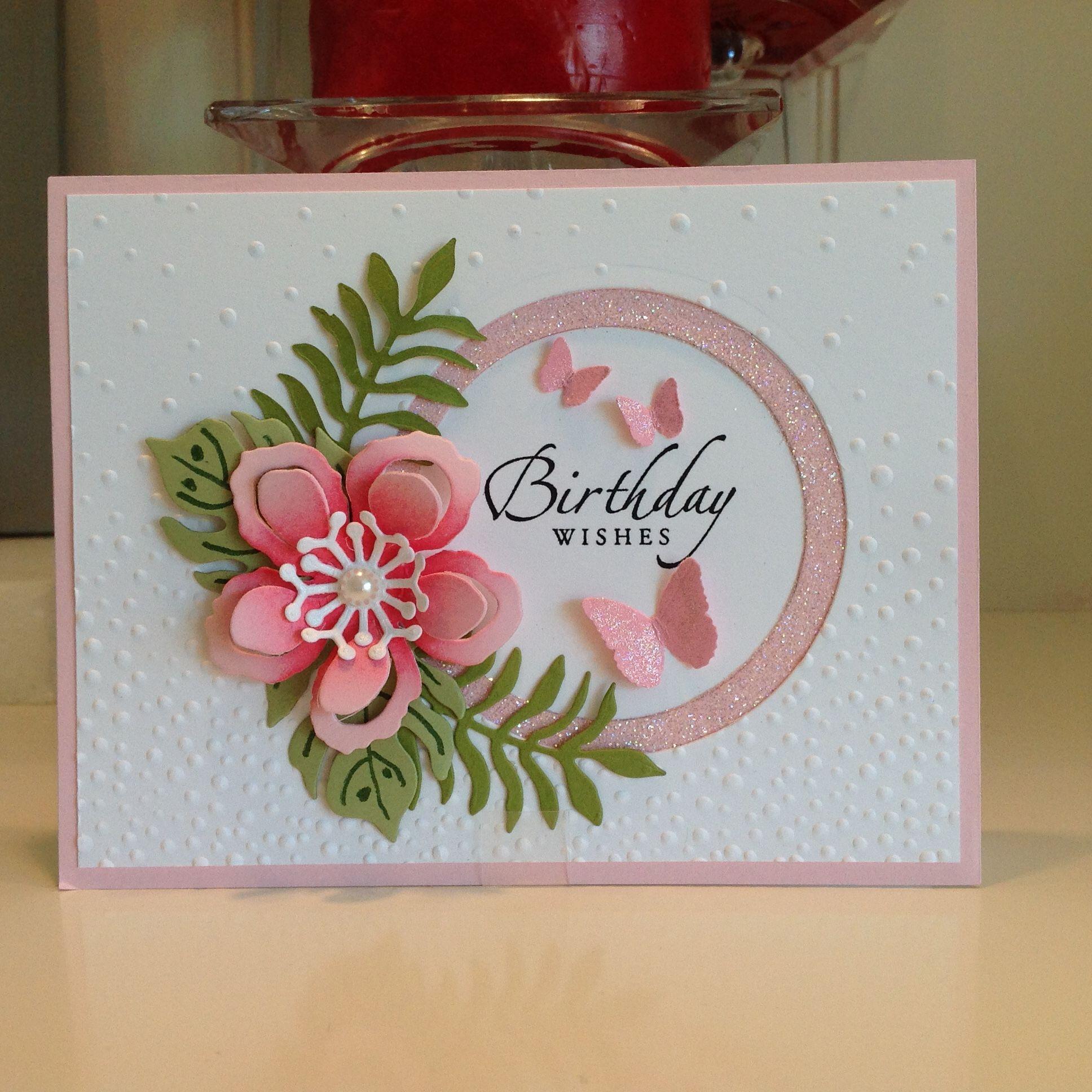 Happy Birthday card using Stampin Up Botanical Blooms