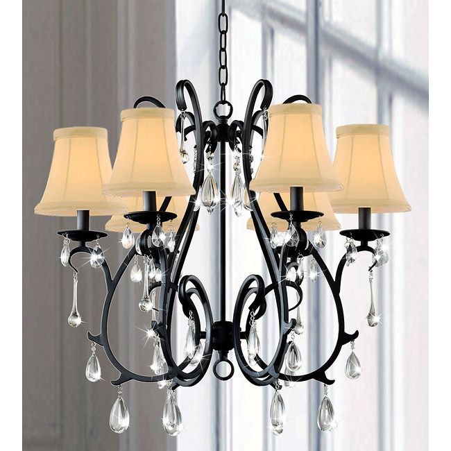 This Iron And Crystal Chandelier Will Wow A Room With Its Traditional Meets Modern Style