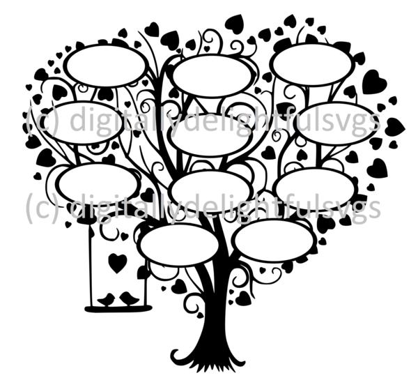 Family Tree 11 svg Svg files Pinterest Svg file