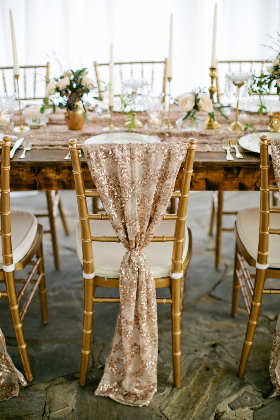 Chair Cover in Rose Gold Chair covers
