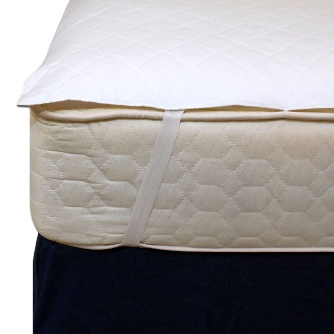 This Is A Three Layer Mattress Pad With Vinyl Waterproof Barrier Two Inch Wide Elastic Bands On Each Corner Anchor The To