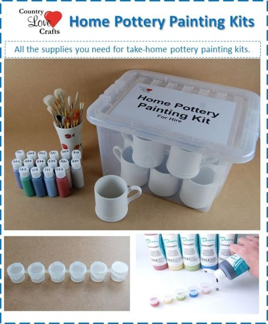 Take Home Or Pottery To Go Diy Painting Kits For Hire