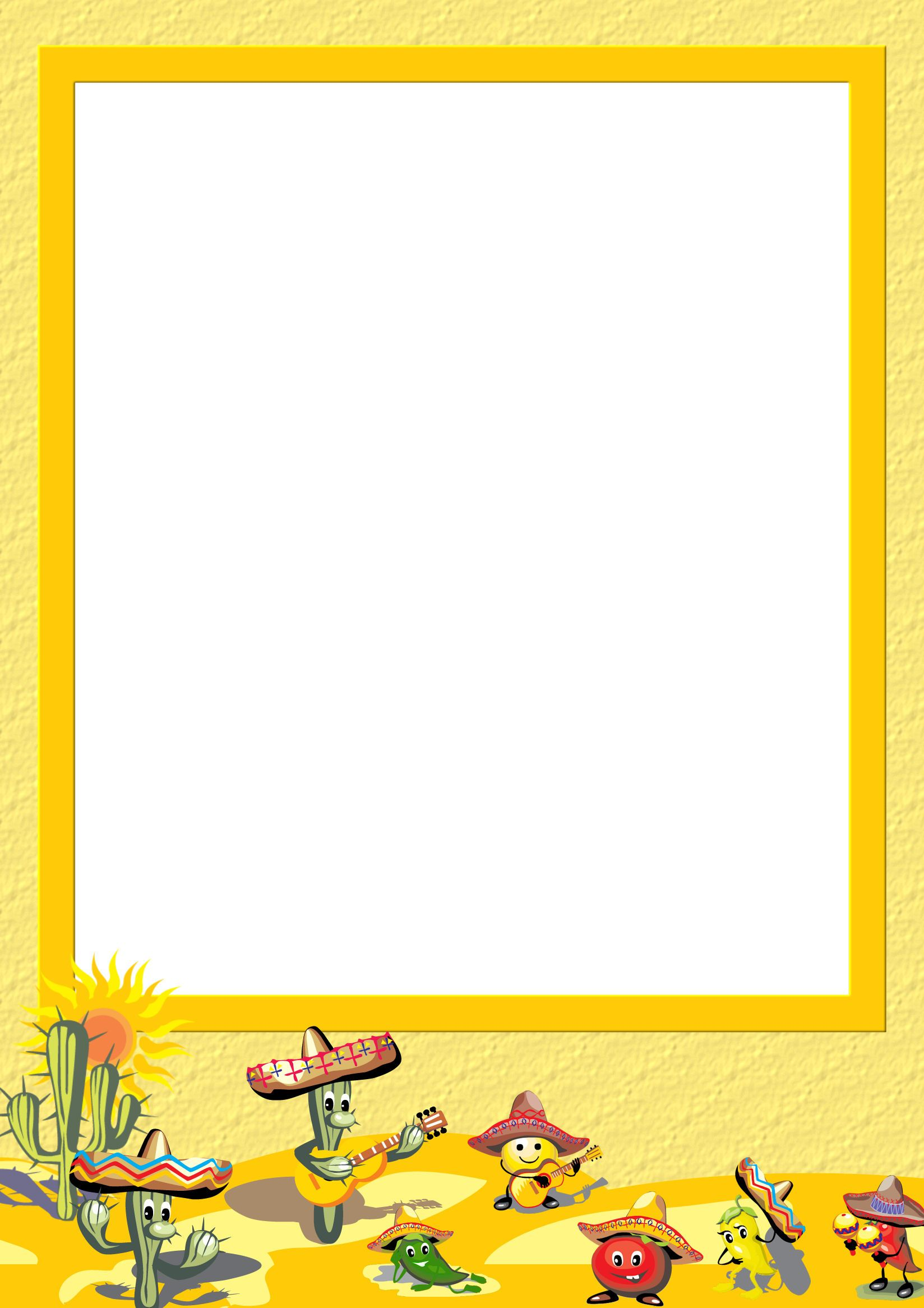 1 Computer Stationery Stationery Template Papers Cinco De Mayo Stationery Free