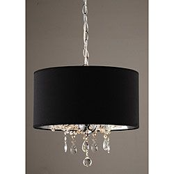 Indoor 3 Light Black Chrome Pendant Chandelier Add