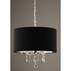 Indoor 3 Light Black Chrome Pendant Chandelier Add