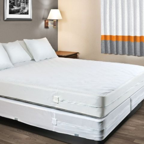 Mattress And Box Spring Encat Covers Waterproof Allergy Free For Protection From Bed Bugs