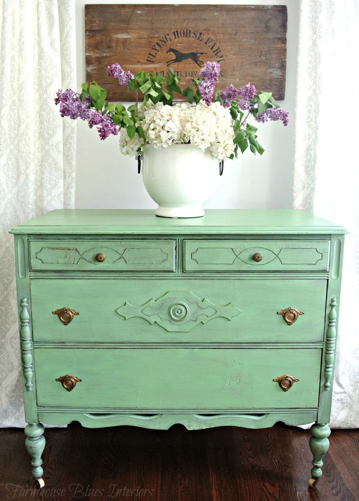 Sweet bureau painted in Country Chic Paint's Rustic Charm