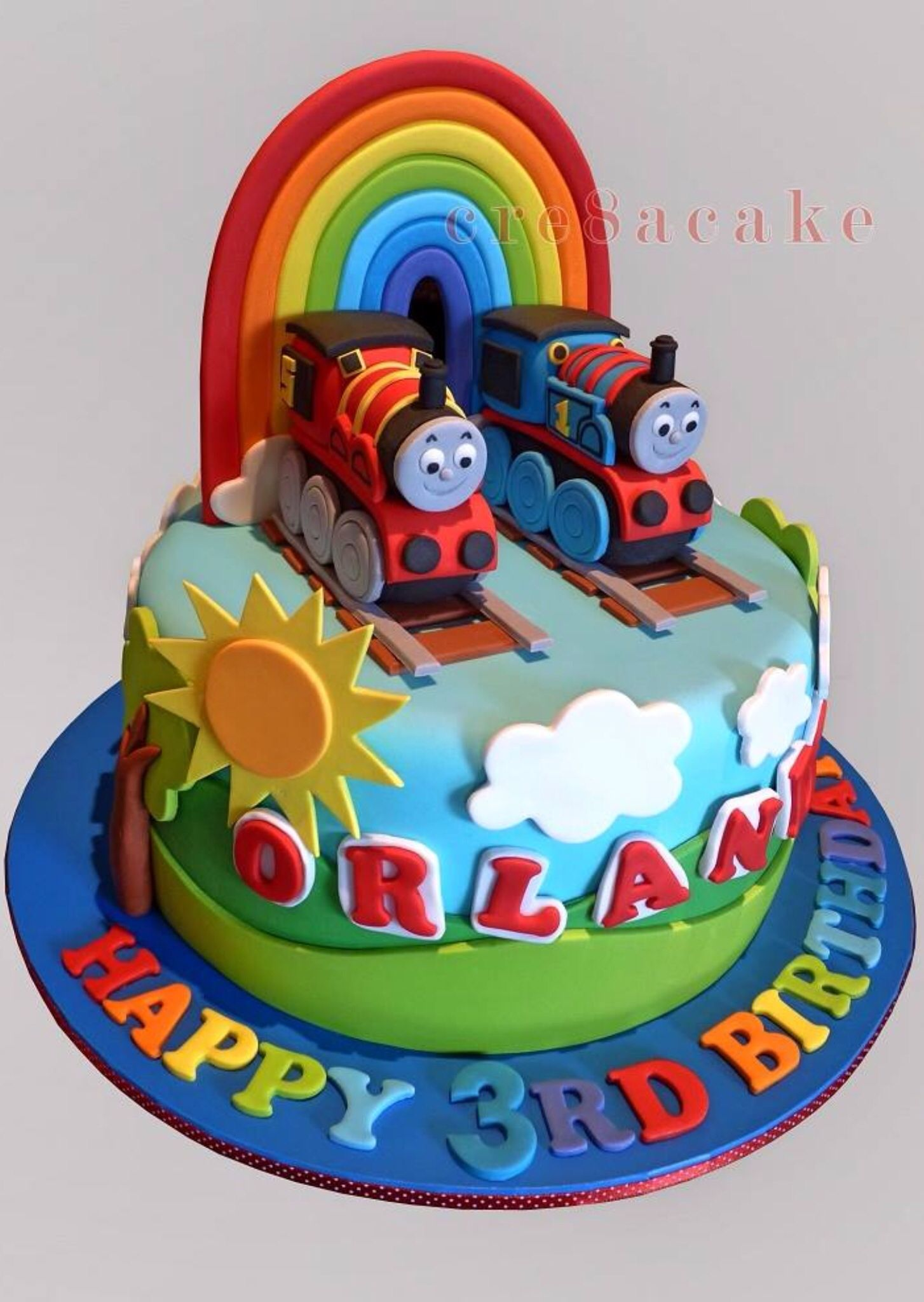 Thomas The Tank Engine Amp James Birthday Cake