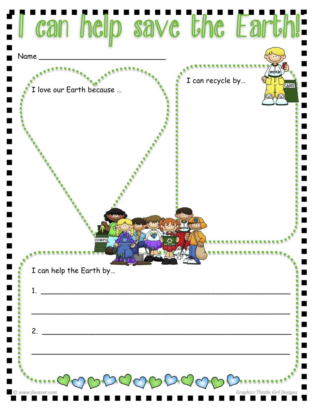 Free I Can Help Save The Earth Printable