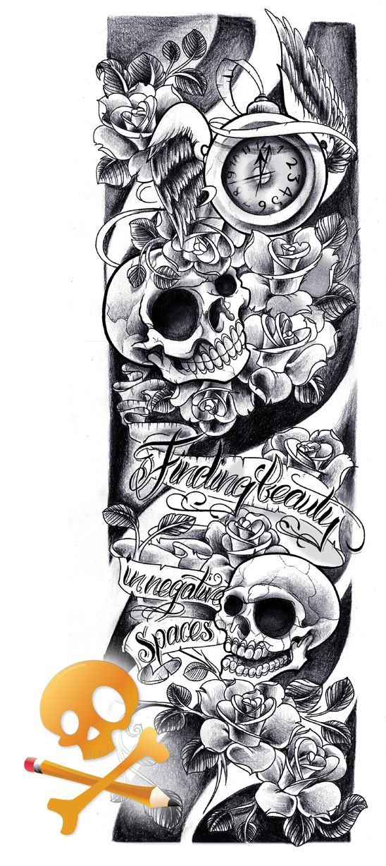 New School Tattoo Sleeve Sketches Tattoo Pinterest