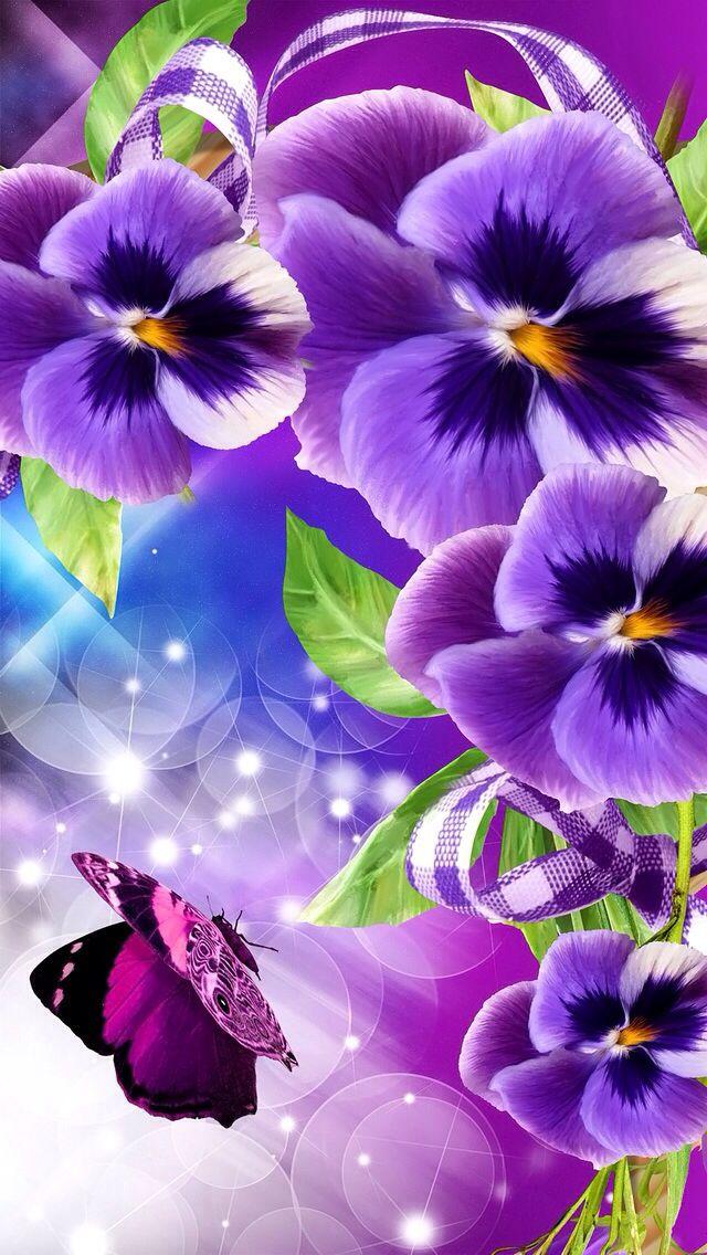 Purple flowers Wallpapers Pinterest Pansies, Purple