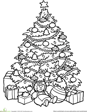 christmas trees coloring pages # 48