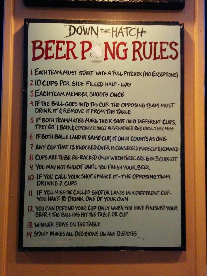 Beer pong rules for thought pinterest beer pong