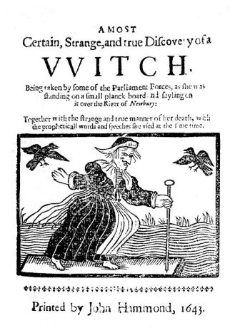 Woodcut of witch: