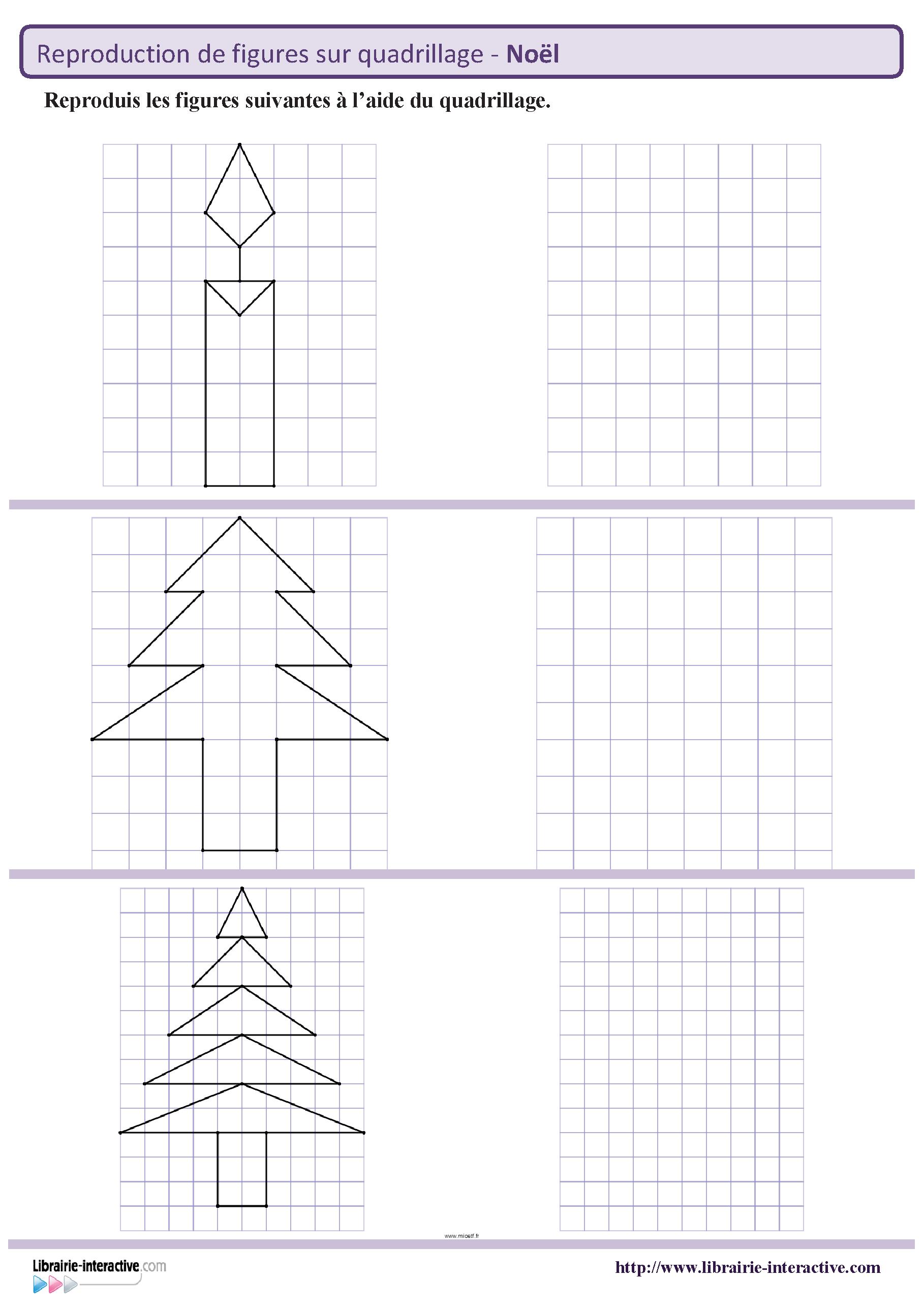 Des Figures Geometriques Sur Le Theme De Noel A Reproduire