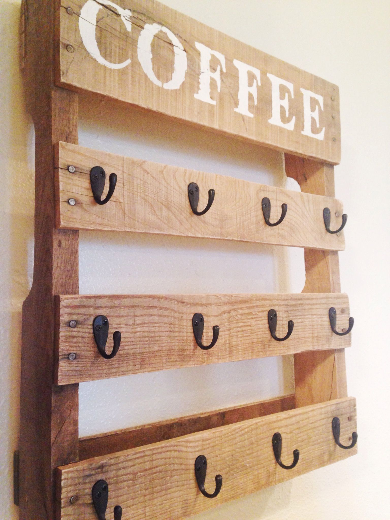 DIY Pallet Coffee Cup Holder Coffee cup holder, Cup