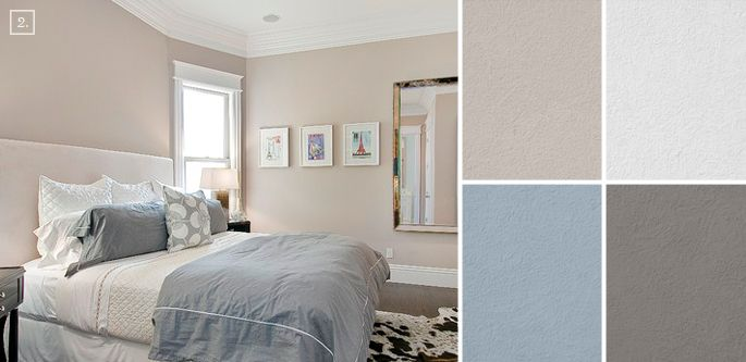 bedroom color ideas: paint schemes and palette mood board | wall