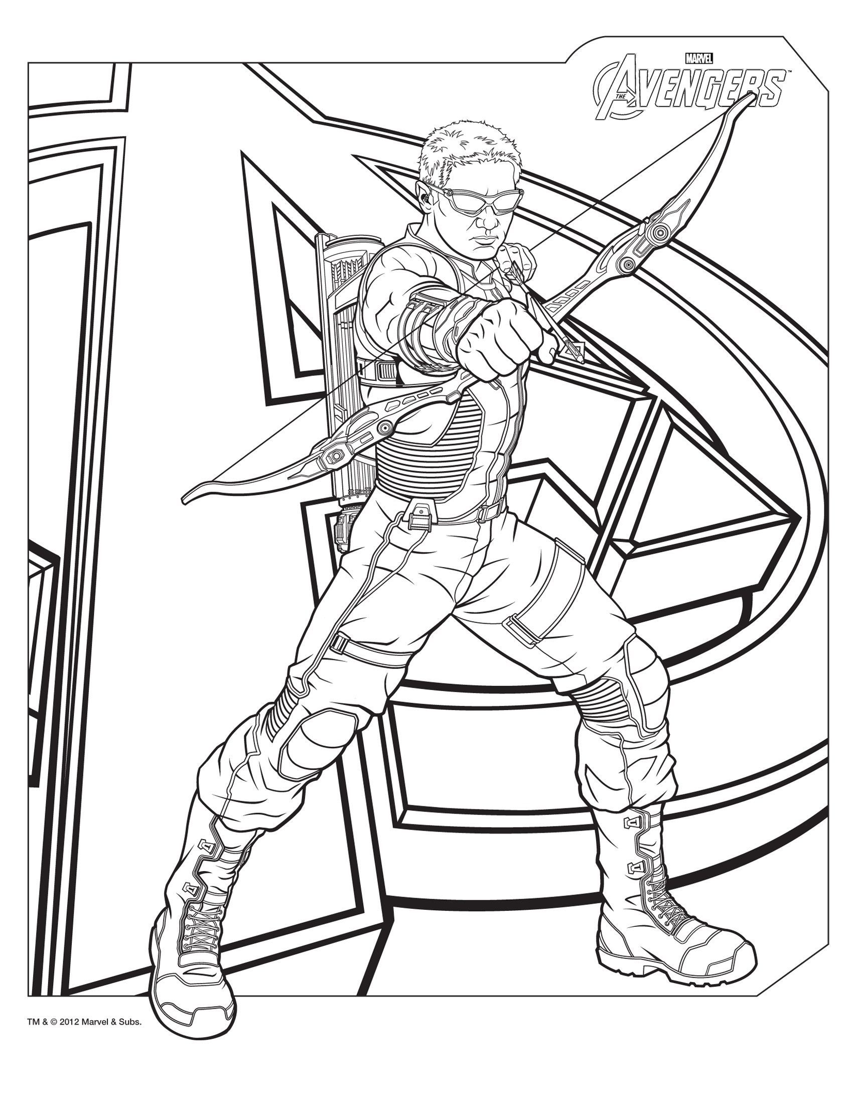 Hawkeye Colorsheets Pinterest Adult Coloring Coloring Books