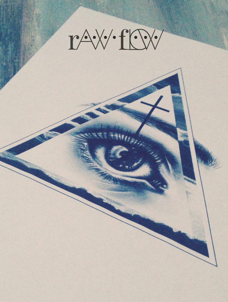 Realistic eye tattoo cross triangle Tattoo designs of