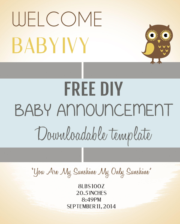 Baby Birth Announcement Template hello classy baby blocks birth – Diy Birth Announcements